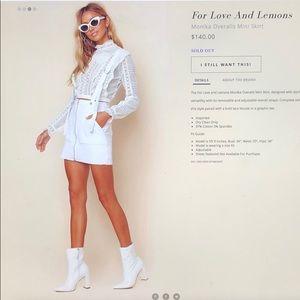 aa77aa8782 For Love And Lemons Jeans - Monika Overalls Mini Skirt
